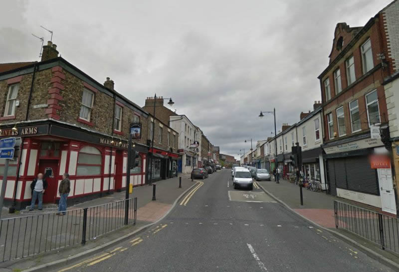 A Google StreetView Image of Saville Street, North Shields - Click to Interact.