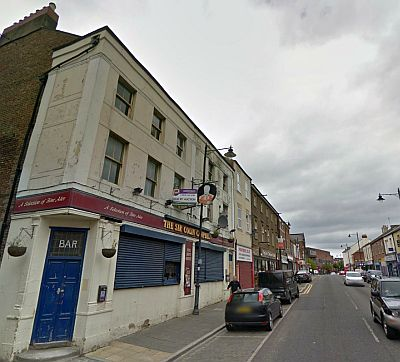 A Google StreetView Image of the Colin Campbell pub and the site of the former Comedy Theatre on Saville Street, North Shields - Click to Interact.