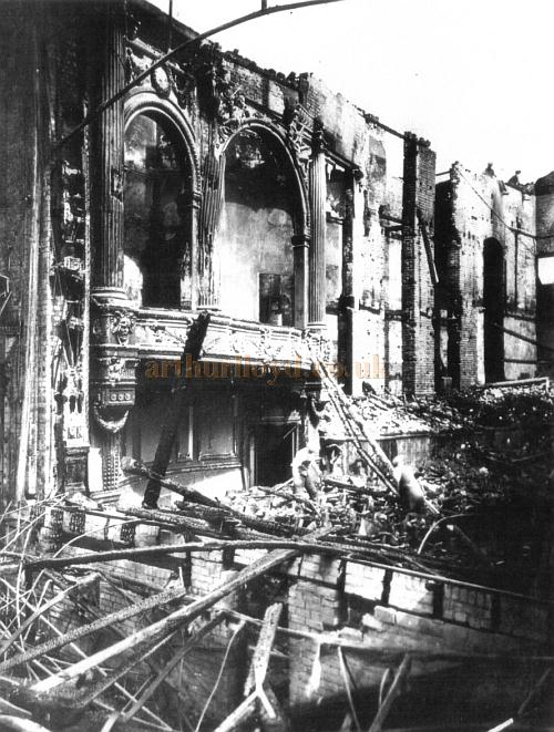 A photograph showing the damage to the Theatre Royal, Norwich in June 1934 - Courtesy Maria Andrew, Archivist at the Theatre Royal, Norwich.