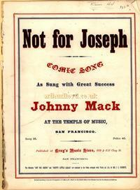 Johnny Mack's version of 'Not For Joseph'.