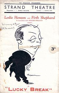 Programme for the Strand Theatre 1935