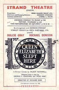 A programme for the Strand Theatre in 1949