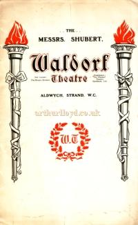 A Programme for 'Mrs. Temple's Telegram' at the Waldorf Theatre in September 1906 - Click for cast details.