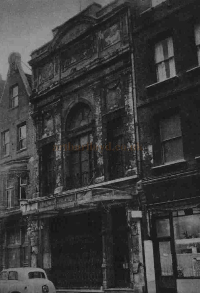 The derelict and bomb damaged Kingsway Theatre in 1955 - From the Illustrated London News, 22nd January 1955.