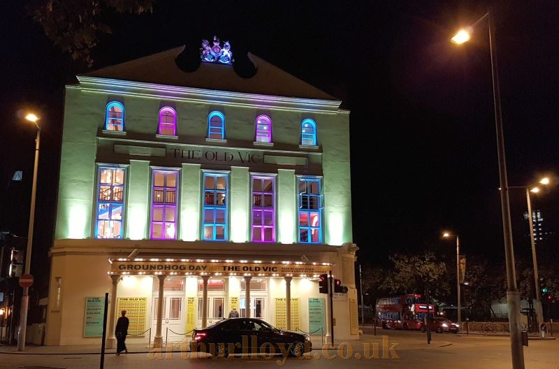 The Old Vic during the run of 'Groundhog Day' in August 2016 - Photo M.L.