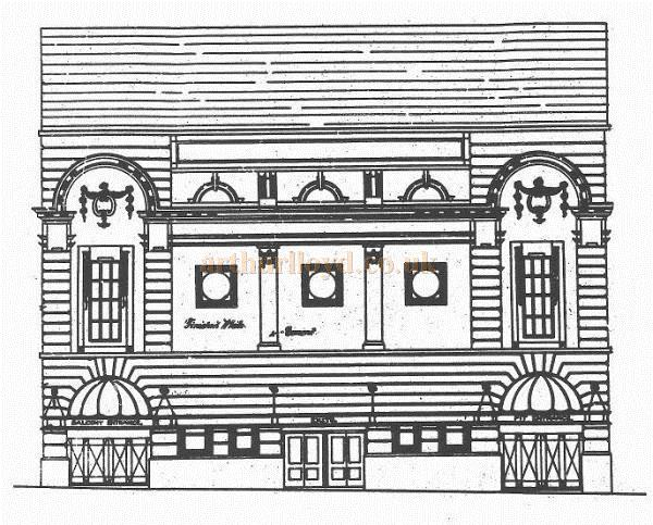 The Architects' drawing of the Adelphi Theatre, Oldham in 1860 - Courtesy Alex Balmforth.