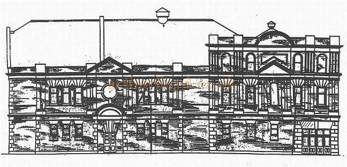 An architect's drawing of the Palace Theatre, Oldham in 1906 - Courtesy Alex Balmforth.