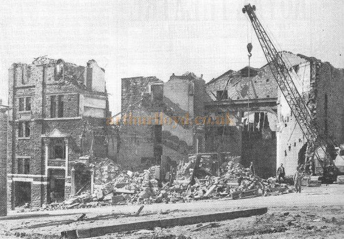 Demolition of the Oldham Theatre Royal in April 1967 - Courtesy Alex Balmforth.