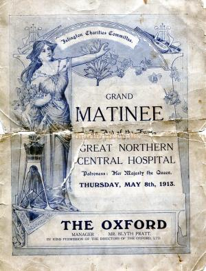 A Programme for a 'Grand Matinee' at the Oxford in 1913 - Courtesy Derek Jenkins whose Grandfather, George Seymour Blakeman, was the Stage Carpenter at the Theatre at the time - Click to see the whole programme.