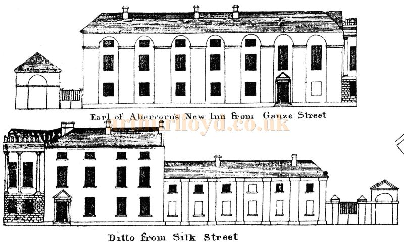 The Earl of Abercorn`s New Inn, later named the Tontine, as depicted in Paisley's Town Map of the 1780s - Courtesy Graeme Smith.