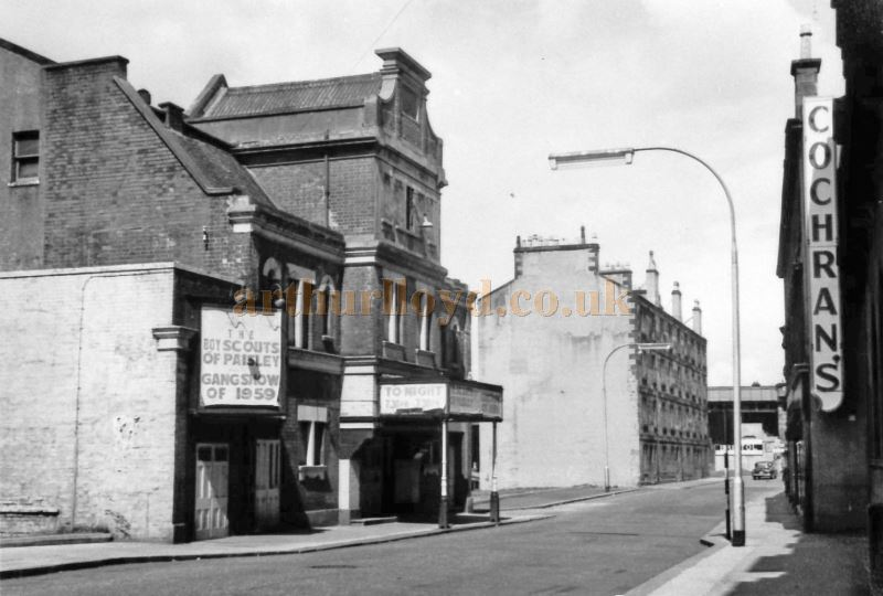 The Paisley Theatre in Smithhills Street in 1959 awaiting demolition - Courtesy Charles Soutar.