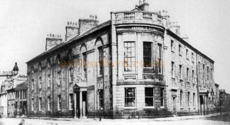 Paisley`s Renfrewshire Tontine building which later was known as the Abercorn Rooms - Courtesy Graeme Smith.