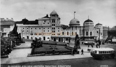 The New Victoria and Alhambra Theatres, Bradford - From a Postcard.