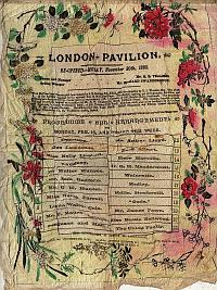 Programme for Arthur Lloyd at the London Pavilion 1885 - Click to enlarge