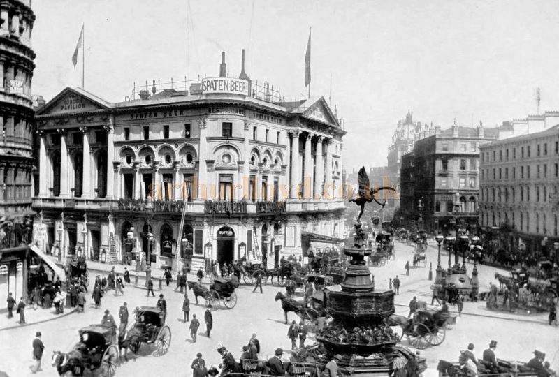 The London Pavilion and Piccadilly Circus - From 'The Survey of London - London North of the Thames', by Sir Walter Besant, published in 1911.