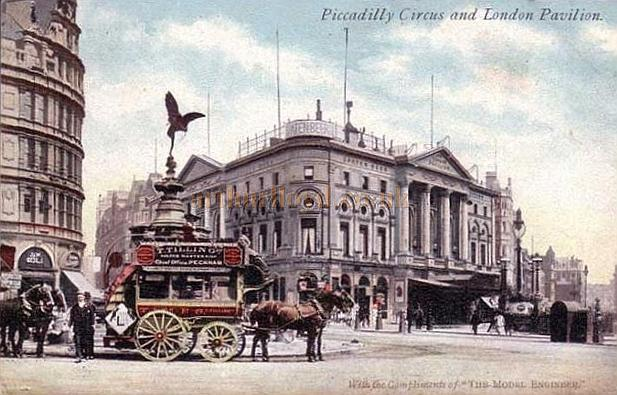An early postcard of the London Pavilion, Piccadilly Circus, London.