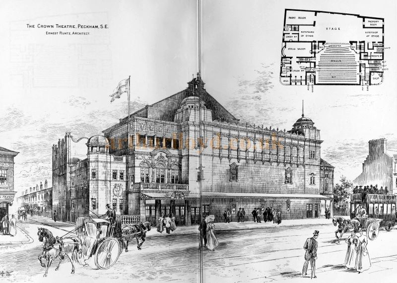 A Sketch of the Crown Theatre, Peckham - From the Building News and Engineering Journal 29th April 1898