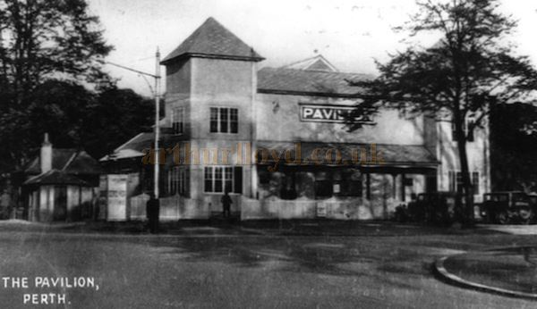 A Postcard showing Perth`s Pavilion Theatre, South Inch - Courtesy Graeme Smith.