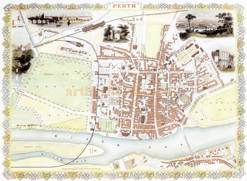 A Plan of Perth in the 1850s - Courtesy Graeme Smith.