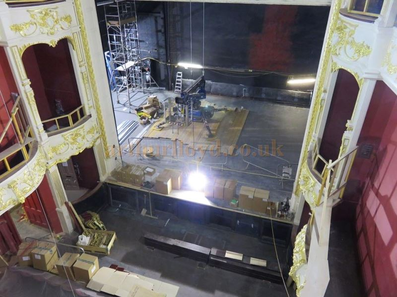 The Stage and Auditorium of the Perth Theatre whilst being restored in 2017 - Courtesy the Perth Theatre Project team.