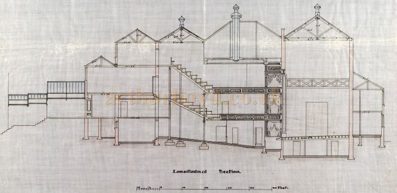 An original cross section plan of the Perth Theatre, drawn by William Alexander in 1898 - Courtesy the Perth Theatre Project team and Perth & Kinross Council Libraries.