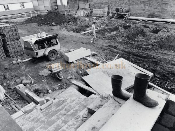 A photograph showing renovation work at the Perth Theatre in July 1980 - Courtesy the Perth Theatre.