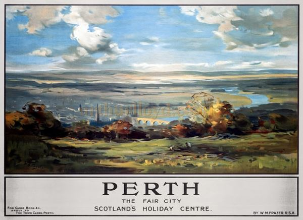 An LMS railway travel poster for Perth of the 1930s - Courtesy Graeme Smith.