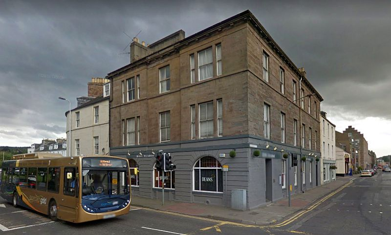 A Google StreetView Image showing Atholl Street, Perth and the former Theatre Royal building - Click to Interact.