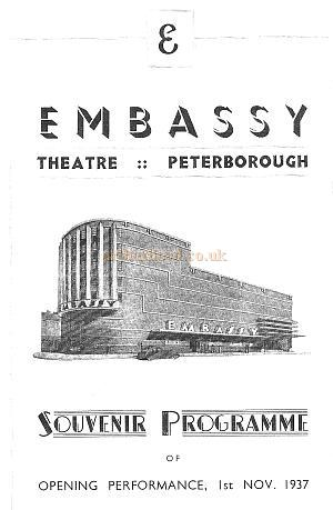 The Embassy Theatre Opening performance Souvenir Programme