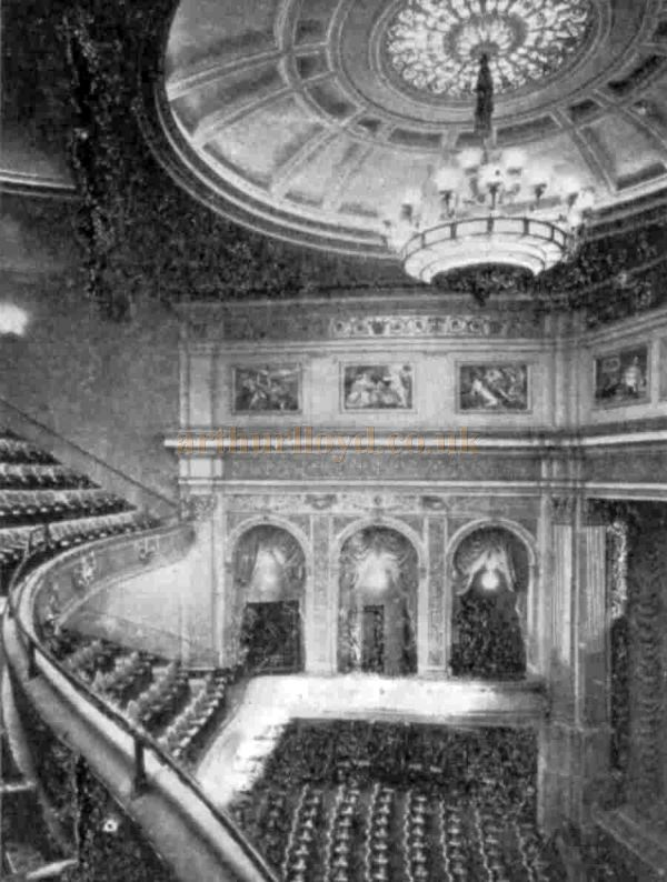 The Auditorium of the Phoenix Theatre when it first opened - From The Bioscope, 24th of September 1930.