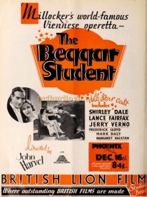 The Beggar Student at the Phoenix Theatre in 1931 - From the Bioscope Cinema Magazine of 1931.