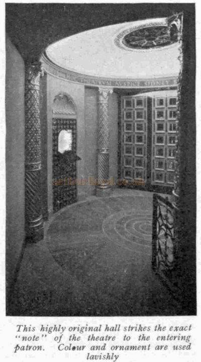 The Entrance Hall at the Phoenix Theatre when it first opened - From The Bioscope, 24th of September 1930.