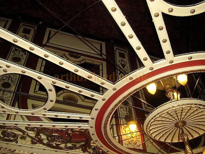 The wonderfully elaborate Foyer Ceiling of the Phoenix Theatre in November 2010 - Courtesy Charles S. P. Jenkins