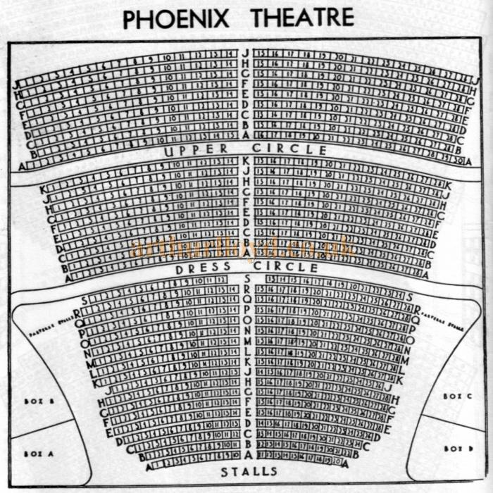 A 1970s Seating Plan for the Phoenix Theatre