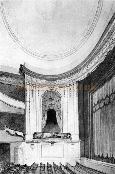 The auditorium of the Piccadilly Theatre - From the Theatre's opening Souvenir Programme on the 27th of April 1928 - Courtesy Adam Harrison.