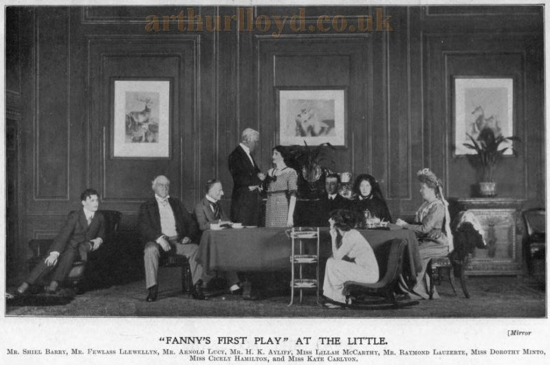 'Fanny's First Play' at the Little Theatre - From 'Plays of the Year' in The Stage Yearbook of 1912