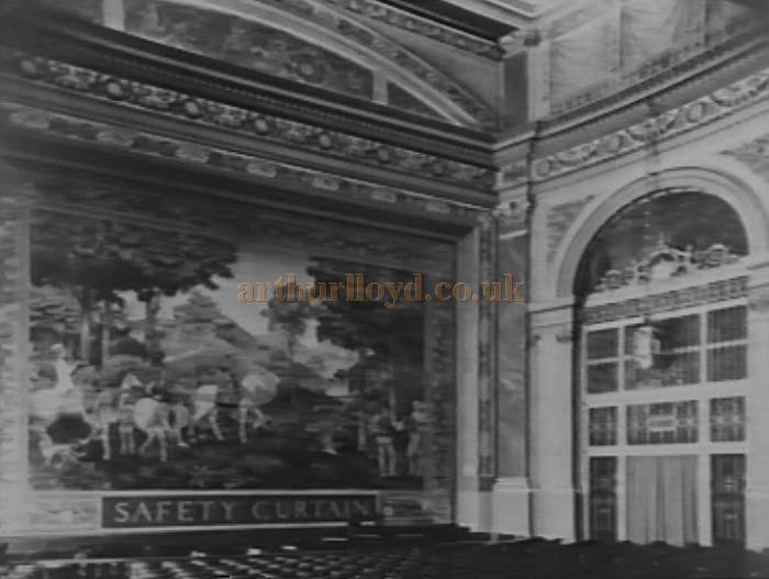The original Safety Curtain and Auditorium of the Plaza Theatre, Piccadilly Circus