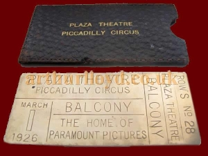 A Brass Ticket for the opening of the Plaza Theatre -  Courtesy Steven Matteson