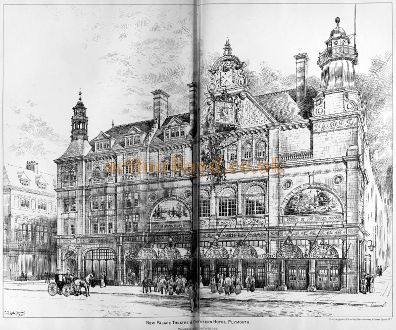 The Palace Theatre & Western Hotel, Plymouth - From The Building News and Engineering Journal, April 28th, 1899