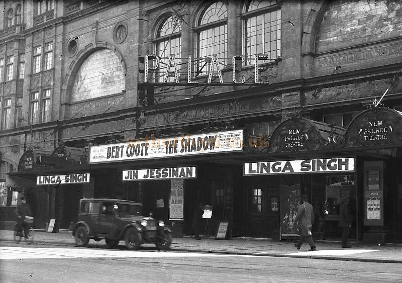 "The Palace Theatre, Plymouth during the run of 'The Shadow' in 1929 - Courtesy Nigel Dutt whose Grandfather Amar Dutt alias Linga Singh, toured the country up and down with his ""spectacular illusions"" from 1910 until he died while on a date at West Bromwich."