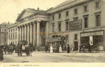 A postcard depicting the Theatre Royal, Plymouth