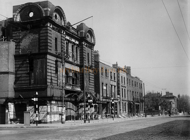The Hippodrome Theatre, Poplar after having been bombed in the Second World War - Courtesy Peter Charlton