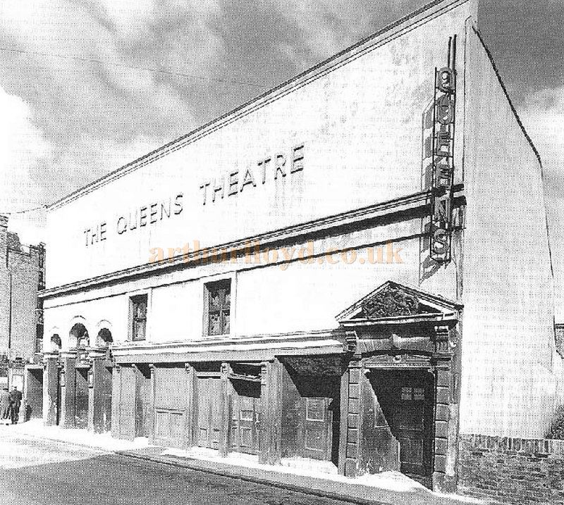 The Queens Theatre Poplar in 1959  from The 'Survey of London' published by the Royal Commission on the Historic Monuments of England 1994