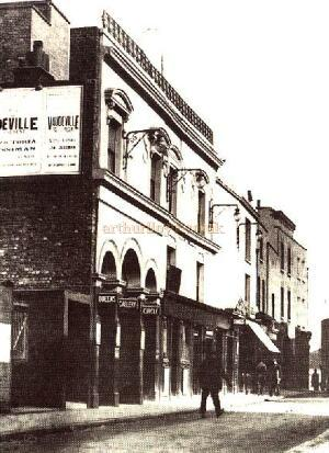 The Queens Theatre Poplar in 1930  from The 'Survey of London' published by the Royal Commission on the Historic Monuments of England 1994