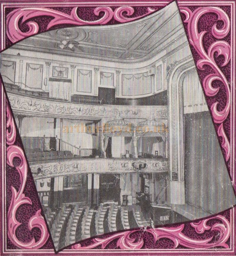 The Auditorium of the Empire Theatre, Portsmouth from a programme for 'A Strip From Show Business', which closed the Theatre for the last time on the 30th of August 1958 - Courtesy Bob Hind.