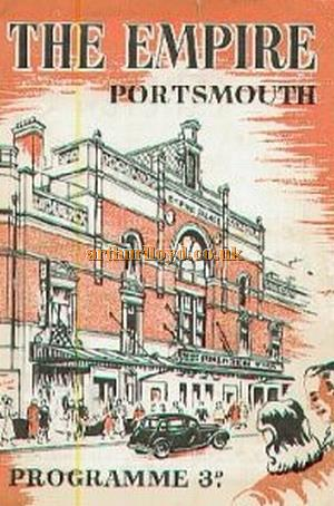 A typical mid 20th century programme cover for the Portsmouth Empire.