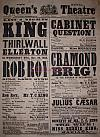 Poster for T. C. King at the Queen's Theatre, Dublin in 1858 - Click to Enlarge