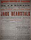 Poster for Arthur Lloyd's Jack and the Beanstalk at the Queen's Theatre Dublin in 1874 - Click to Enlarge