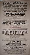 Poster for the Theatre Royal, Dunlop Street, Glasgow in 1843 - Click to Enlarge.