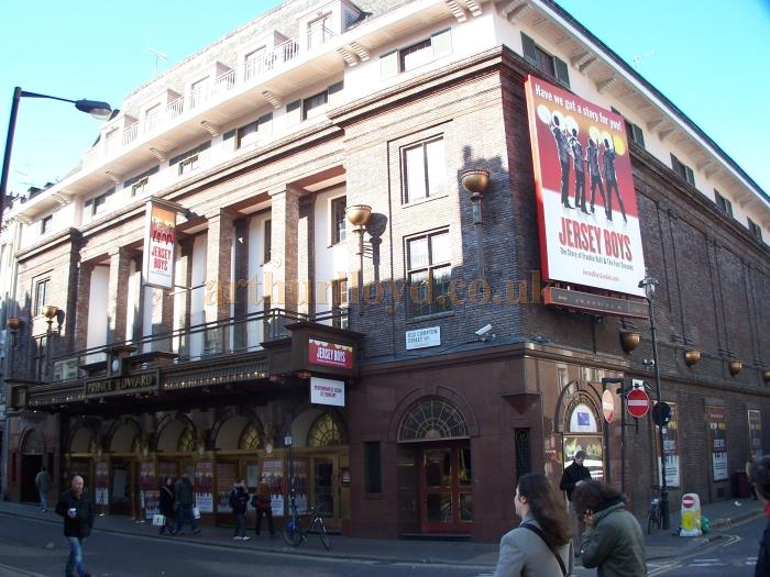 The Prince Edward Theatre in February 2008, during production for the Tony Award winning Broadway musical 'Jersey Boys' which opened at the Theatre on the 18th of March 2008 - Photo M.L.